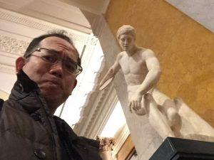 大英博物館にて自撮り1