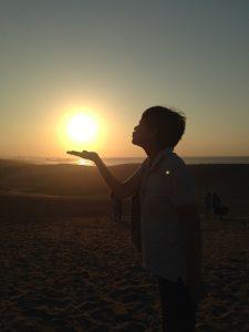 太陽にキス