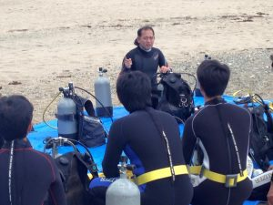 ダイビング講習風景